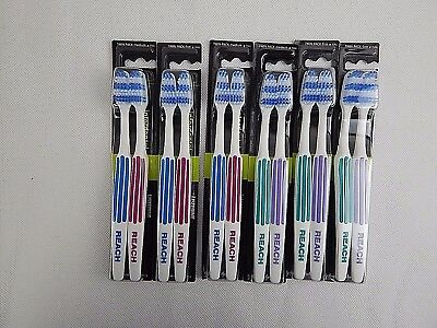 Listerine Reach Interdental Essential Firm Medium Toothbrush Twin Pack 2 4 6 8