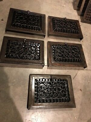 BR 4 Five Available Price Separate Antique Cast-Iron Floor To Wall Heating Grate