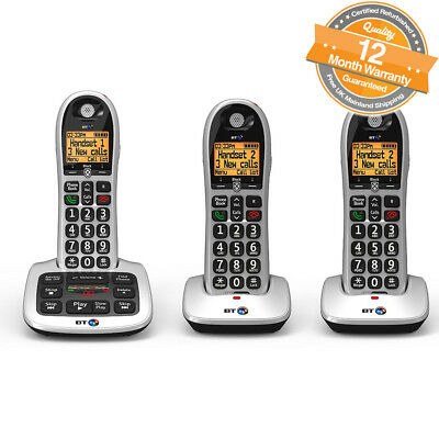 BT 4600 Trio Digital Cordless Answerphone Telephone with Advanced Call Blocker