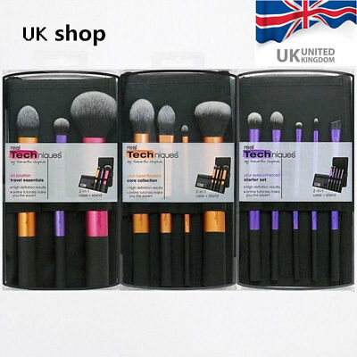 Real Techniques Makeup Travel Essentials/Starter Kit/Core Collection Brushes Set
