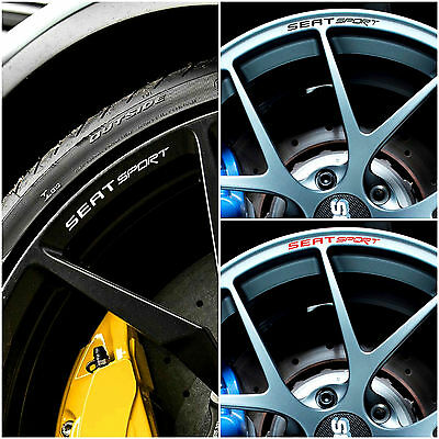 SEAT SPORT Rims Alloy Decals Stickers Ibiza Leon FR ST Cupra for 16 17 18 Wheels