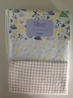 Moses Basket, 2 Pack Fitted Sheets