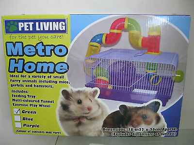 Brand New Metro Home Pet Hamster,mice,gerbils.cage 38X22X26Cm