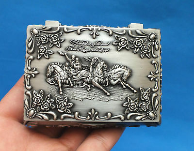 9 cm * /China's beautiful Tibet silver jewellery box carved rose the carriage