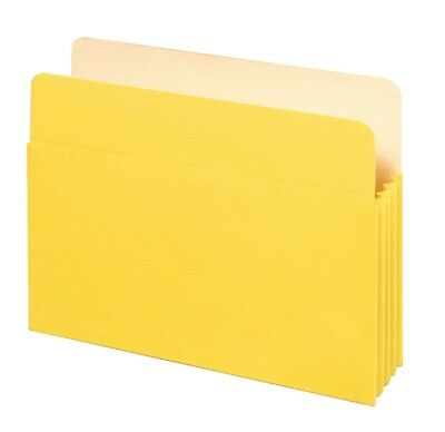 """Colored File Pockets, Letter Size, 5.25"""" Expansion, Yellow, 25 per carton"""