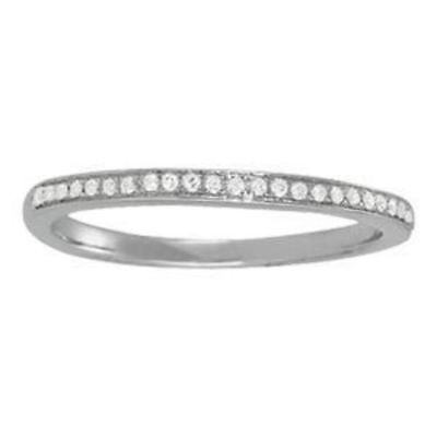 1/8 ct tw 14kt Gold Channel Set Diamond Wedding Band with F Color VS Clarity Dia