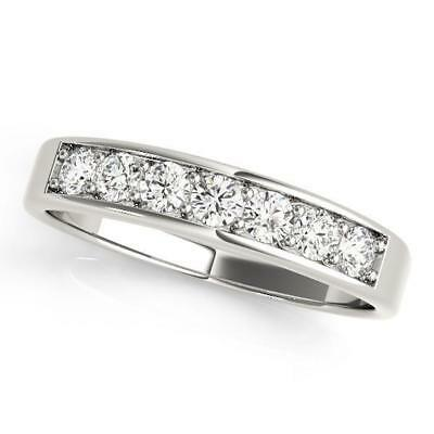 3/8 ct tw 14kt Gold Channel Set Diamond Wedding Band with F Color VS Clarity Dia