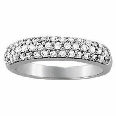 5/8 ct tw 14kt Gold Pave Diamond Wedding Band with F Color VS Clarity Diamonds