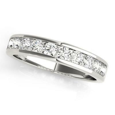 7/8 ct tw 14kt Gold Channel Set Diamond Wedding Band with F Color VS Clarity Dia