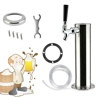 Single Tap Stainless Steel Draft Beer Tower Chrome Faucet For Homebrew Kegerator