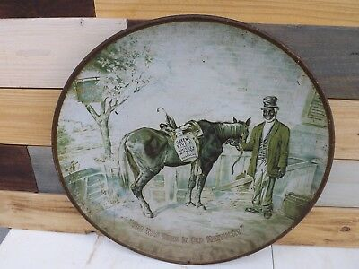 Vintage 1930s Green River Whiskey Sign Kentucky Black America Horse GAS OIL COLA