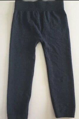 Women's First Kick Blue Maternity Leggings Cropped One Size Fits All