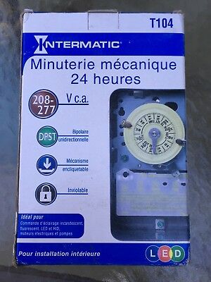 Brand New Intermatic T104 24 Hour Mechanical Time Switch/for Indoor Installation