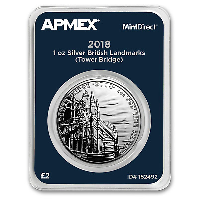 2018 1 oz Silver Landmarks of Britain Tower Bridge (MintDirect®)