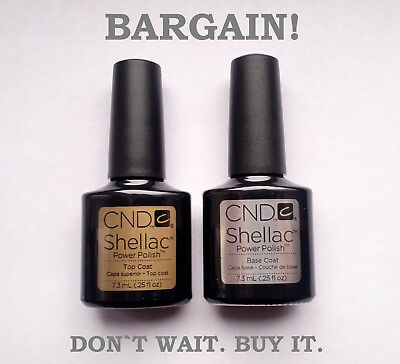 CND Shellac original Top Coat and Base Coat --- best price