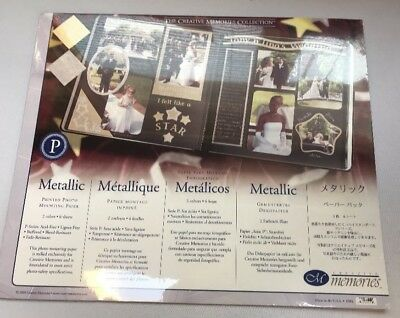 New in Pkg Creative Memories 10x12 Metallic Paper Pack 6 Sheets 3 Gold 3 Silver