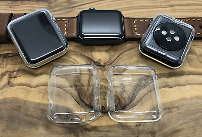 For Apple Watch Series 1 2 3 (42mm) Thin TPU Case Cover Screen Protector 3 PACK