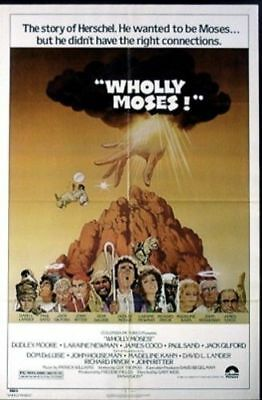 Wholly Moses Original Folded Movie Poster 1980 Dudley Moore 27X41