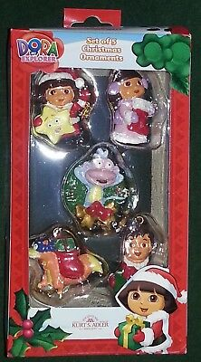NIB 2012 Set of 5 Mini Christmas Ornaments Dora the Explorer