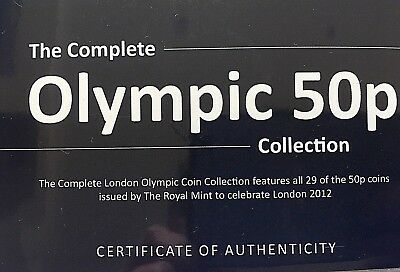 2011 ROYAL MINT LONDON OLYMPICS 50P Fifty Pence Coins NEW BRILLIANT UNCIRCULATED