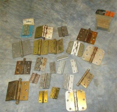 24 Hinges Door Cabinet Vintage Architectural Salvage Reclaimed Hardware Lot q