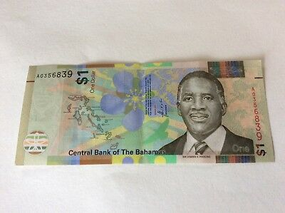 Bahamas 2017 $1 One Dollar Bill New Design Circulated Conditin Banknote