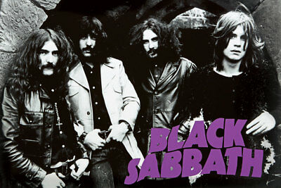 Black Sabbath EARLY GROUP PICTURE 24 x 36 Ozzy Osbourne TONY IOMMI Large POSTER