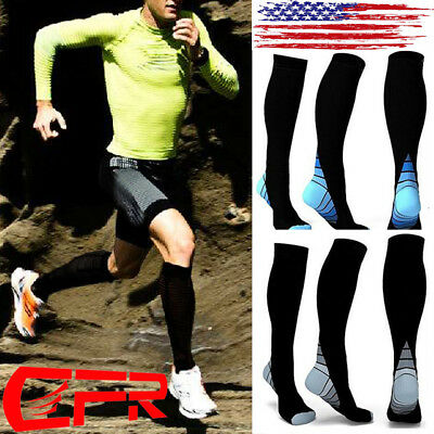 20-30mm Knee High Compression Socks Anti Fatigue Stocking Calf Support Socks New