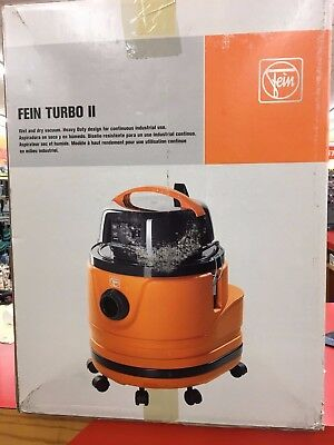 FEIN TURBO ll - WET and DRY VACUUM - Model 9-26-25 Hepa - New In Box - Clearance