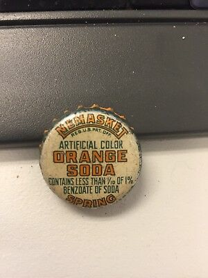 Nemasket orange soda bottle cap used cork lined