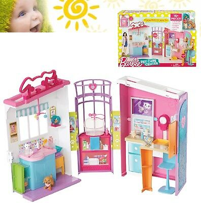 Barbie Pet Care Centre Playset Girls Kids Toy Animal Veterinary Vet Centre