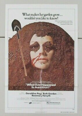 What Ever Happened To Aunt Alice Original Folded 27X41 Movie Poster 1978
