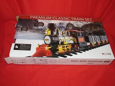 MOTA Premium Classic Train Set with Real Smoke – Signature Lights and Sounds