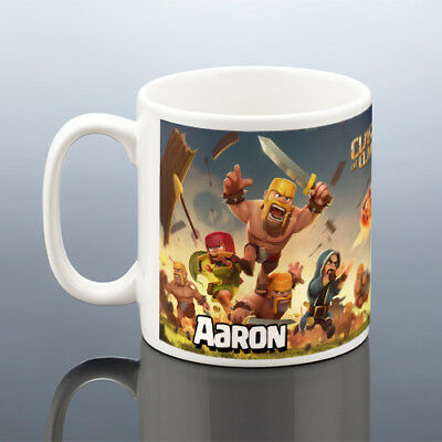 CLASH OF CLANS MUG Birthday Gift Him Men Boyfriend Dad Husband Gamer Cup Friend