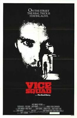 Vice Squad Original Folded Mint 27X41  Movie Poster 1982 Wings Hauser
