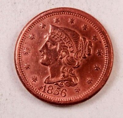 1856 Braided Hair Large Cent // BU *red* // (LC3090)