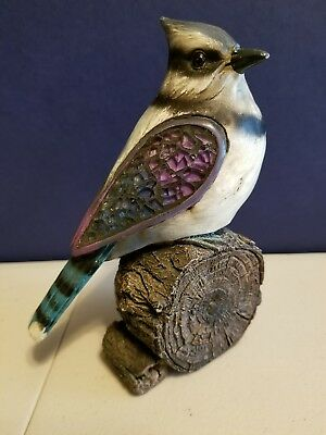 Blue Jay Figurine with Mosaic Glass Wings (20+ years old) Pre-Owned