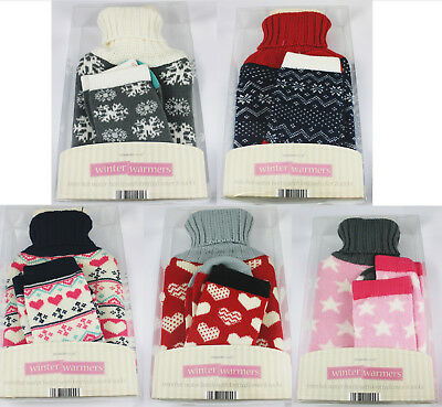 Hot Water Bottle with Knitted Cover and Bed Socks Gift Set BUY 1 GET 1 20% OFF