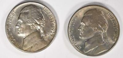 1938-S & 1939-S JEFFERSON NICKELS CHOICE BU Lot 226