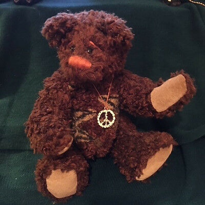 "Kerwin is a One of a kind Synthetic, Jointed, 11""  Artist Bear FREE SHIPPING"