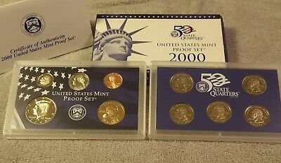 2000 (S)  US Mint Proof 10 Coin Set