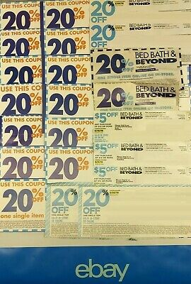 Bed Bath And Beyond 20 % off Coupons (ONLINE OR IN-STORE see listing) LOT OF 3