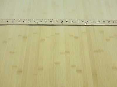 Bamboo Natural Blonde wide cane wood veneer 24 x 48 on thin fleece back VH