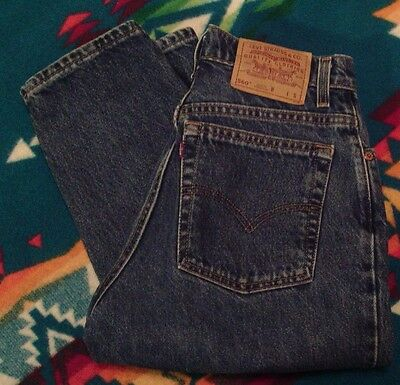 Levis Red Tab Vintage 560 Blue Jeans Women's Relaxed Tapered Leg 8 REG S 27X28