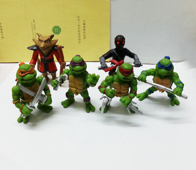 Teenage Mutant Ninja Turtles TMNT Action Figures Toy New 6pcs Classic Collection