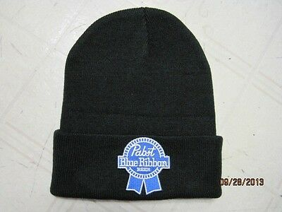 Pabst Blue Ribbon Beannie Cap Skull Cap Black Beanie (Cut Out) Great Gift Item!!