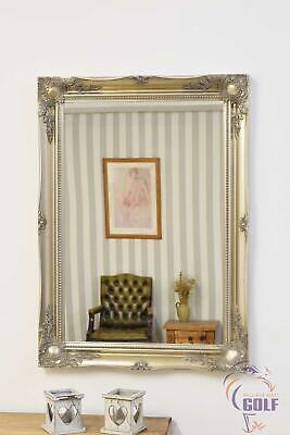 Large Silver Ornate Shabby Chic Wall Mirror New3Ft X 2Ft2 91cm X 66cm