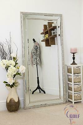 Extra Large Ornate Decorative Bevelled Glass wall Mirror 170cm x 84cm