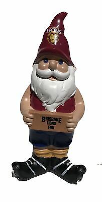 Brisbane Lions AFL Garden Fan Gnome 2017 Edition