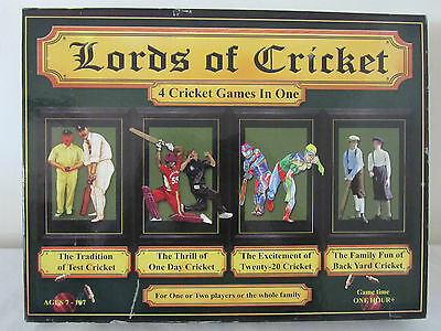 LORDS OF CRICKET - 4 Games In 1- Test 1 Day Twenty-20 Backyard